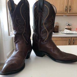 Justin Ladies Brown Western Boots 7-1//B